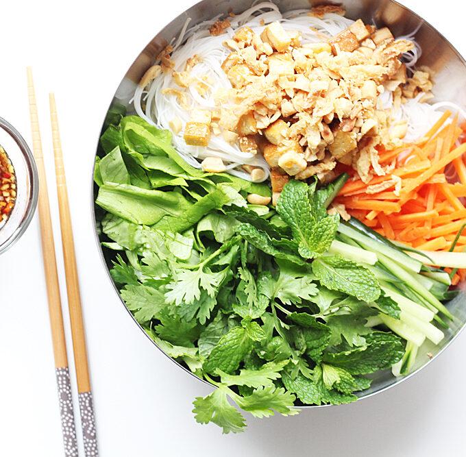 Bun Chay Rice Noode Salad