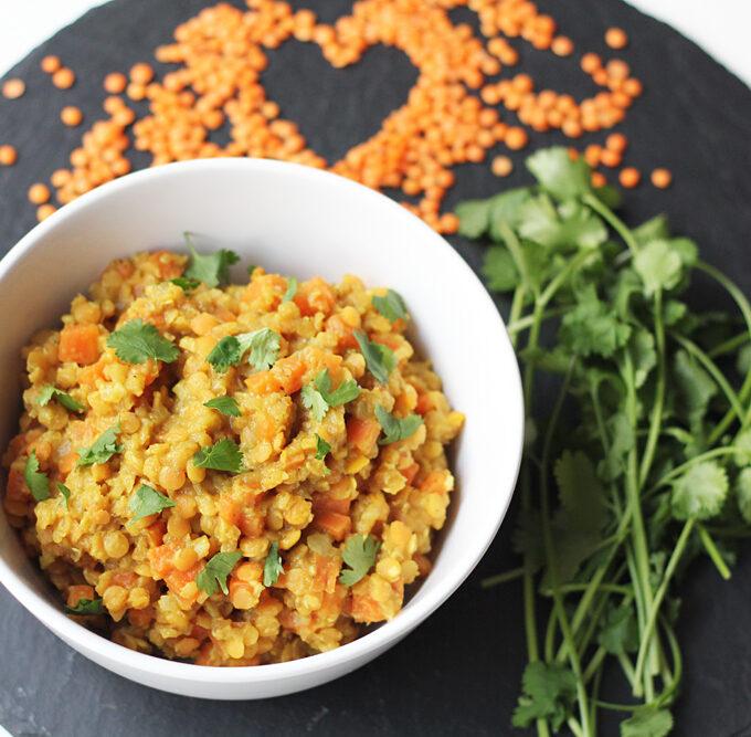 Linsen-Möhren-Curry (Vegan)