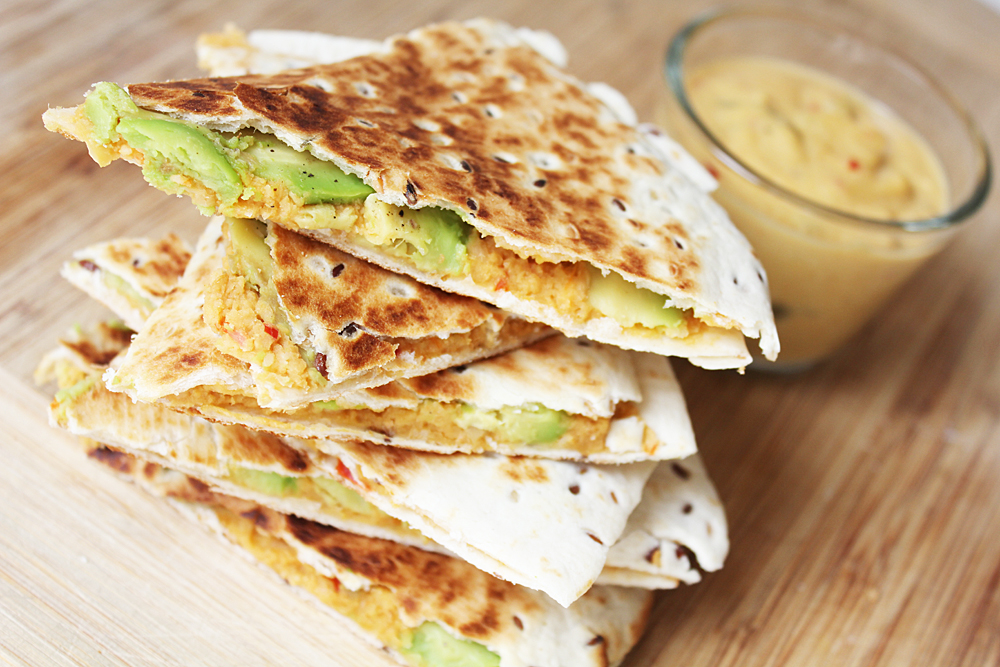 Vegan Quesadilla and Nacho Cheese
