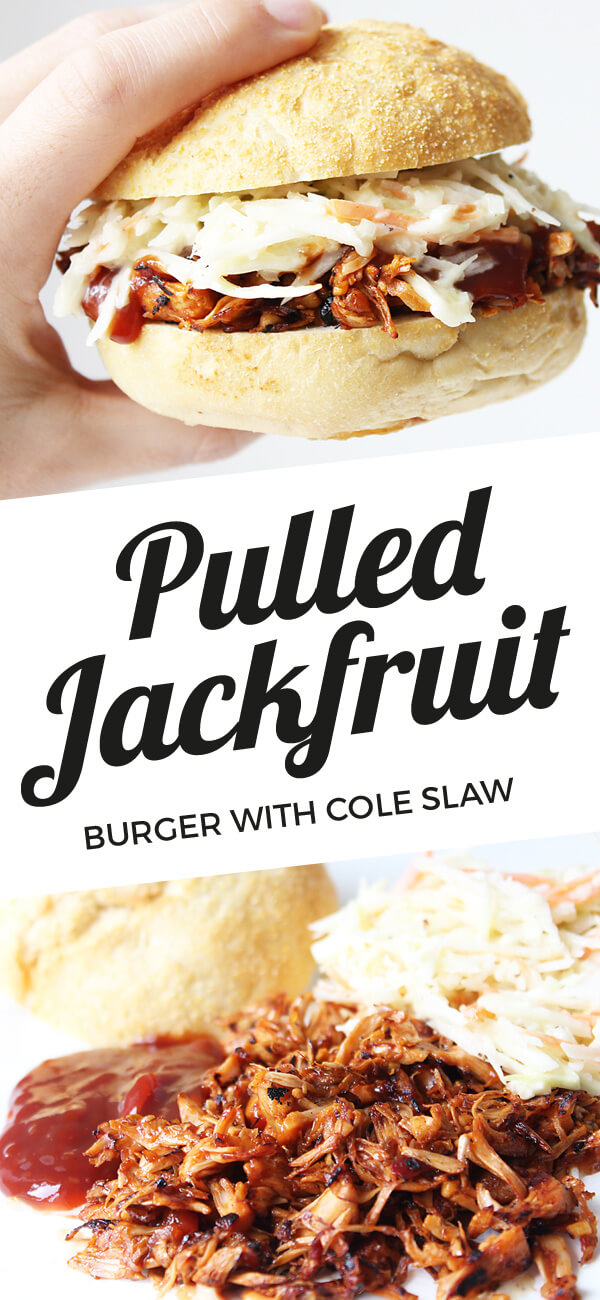 Pulled Jackfruit Burger With Cole Slaw (Vegan) - Cheap & Cheerful Cooking - Vegan Recipes