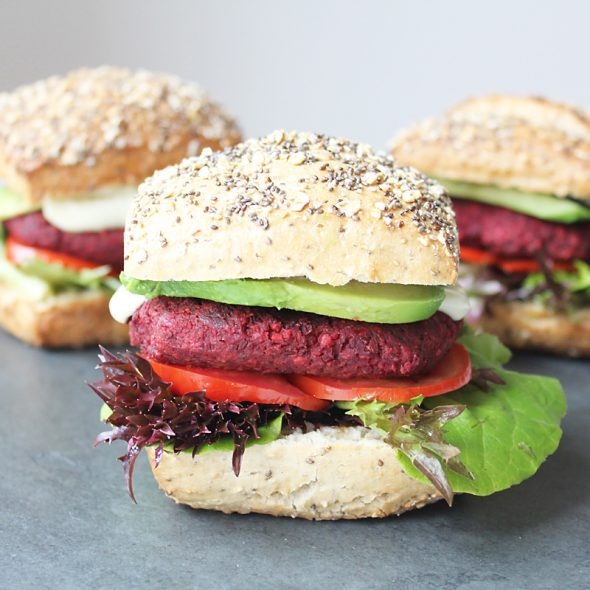 Vegan Beet Burger Cover