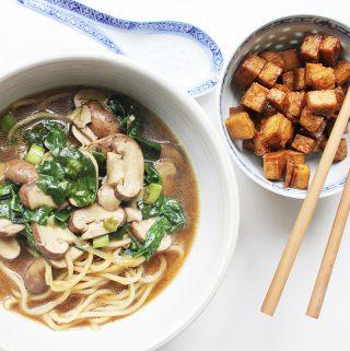 Miso Ramen Noodle Soup Cover