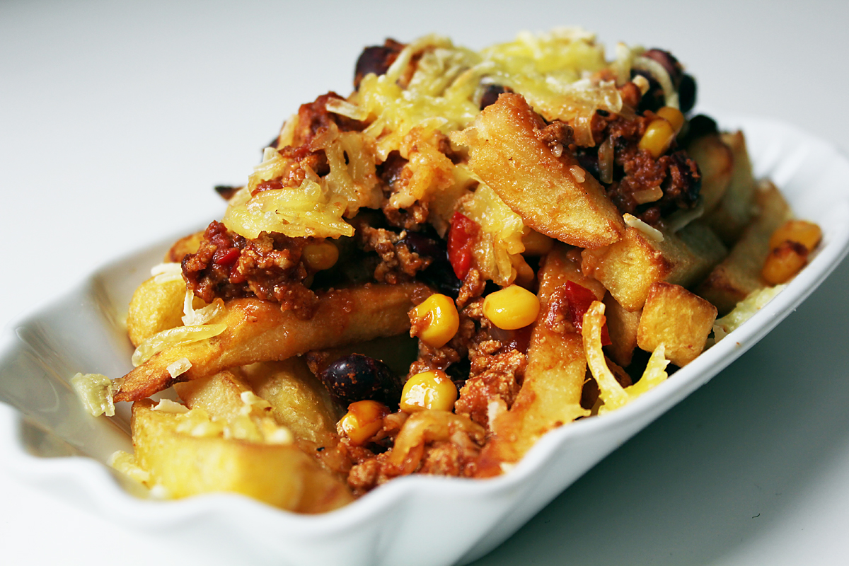 Vegane Chili Cheese Fries
