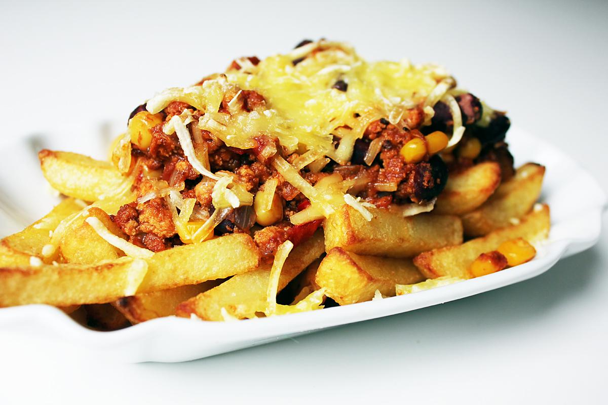 Vegane Chili Cheese Fries
