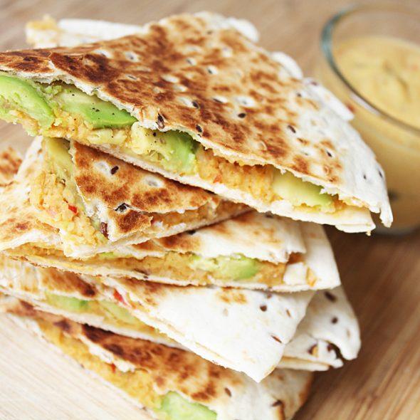 Vegane Quesadilla mit Nachokäse Cover
