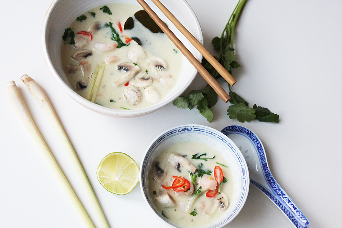Vegane Tom Kha Suppe