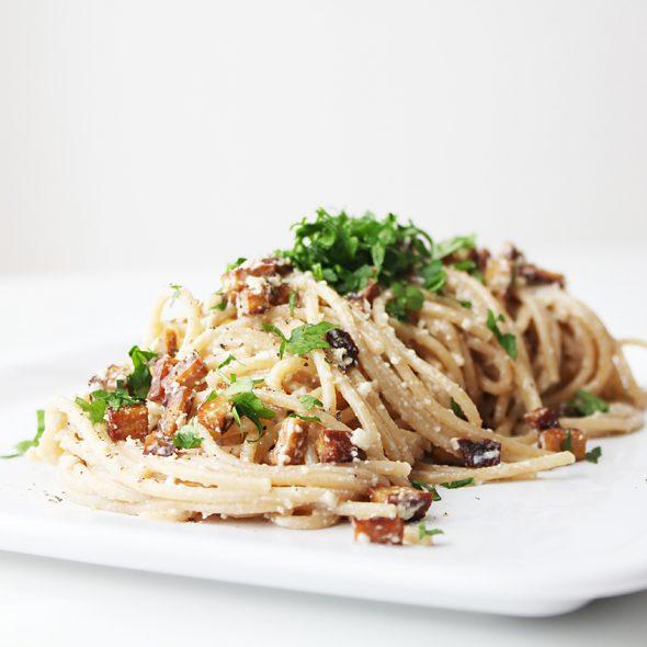 Vegane Spaghetti Carbonara Cover