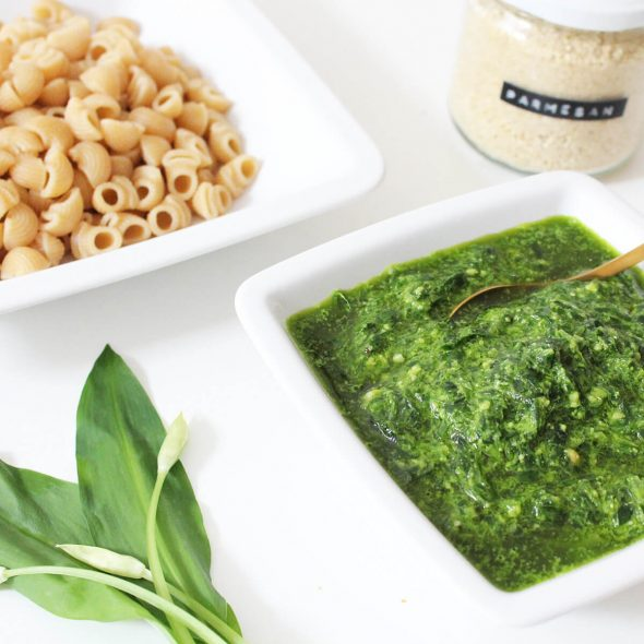 Pasta with Wild Garlic Pesto Cover
