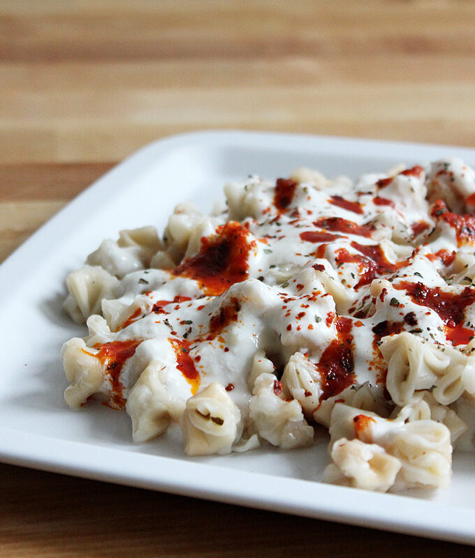 Vegan Manti With Yogurt Sauce