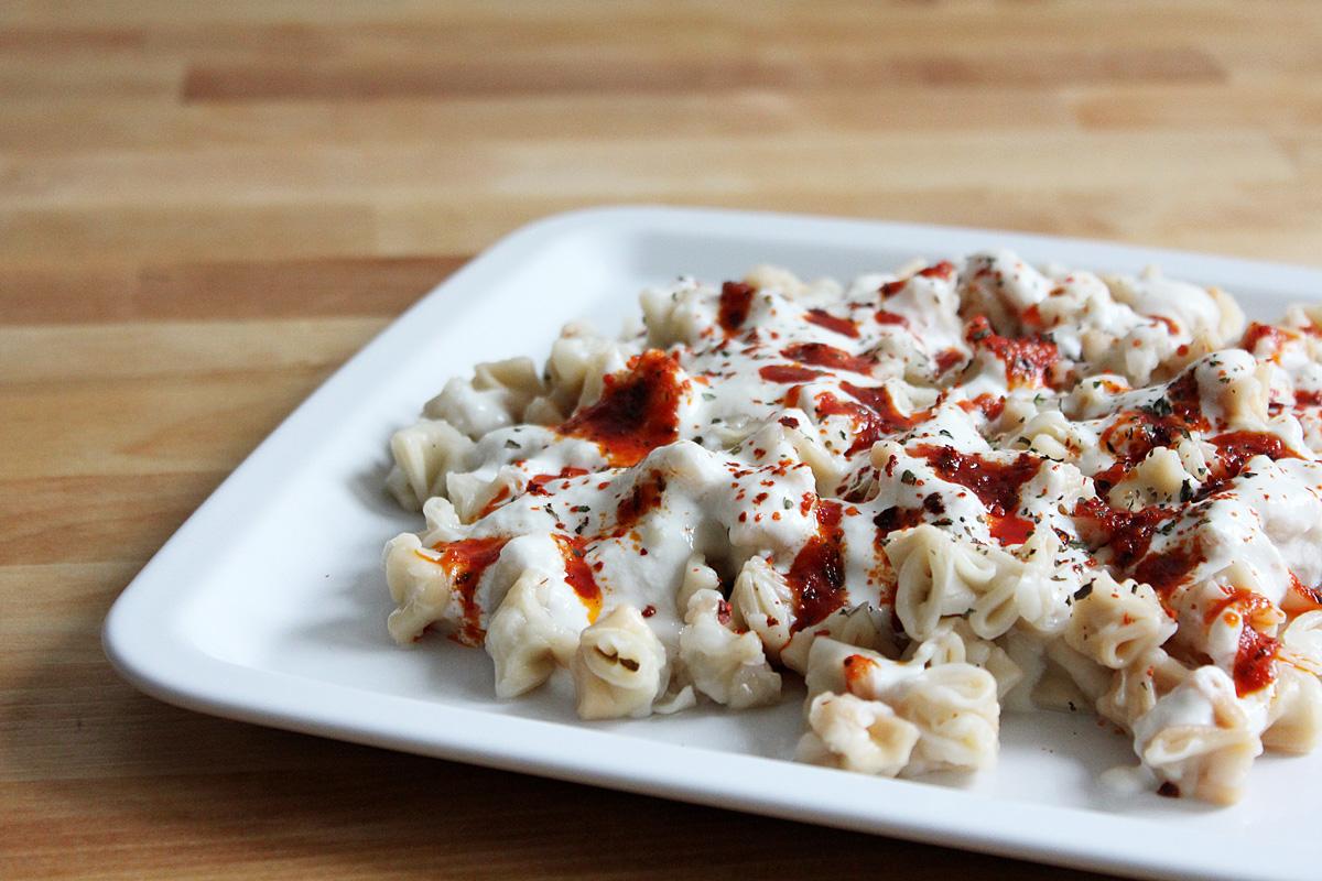 Vegan Manti With Yogurt Sauce