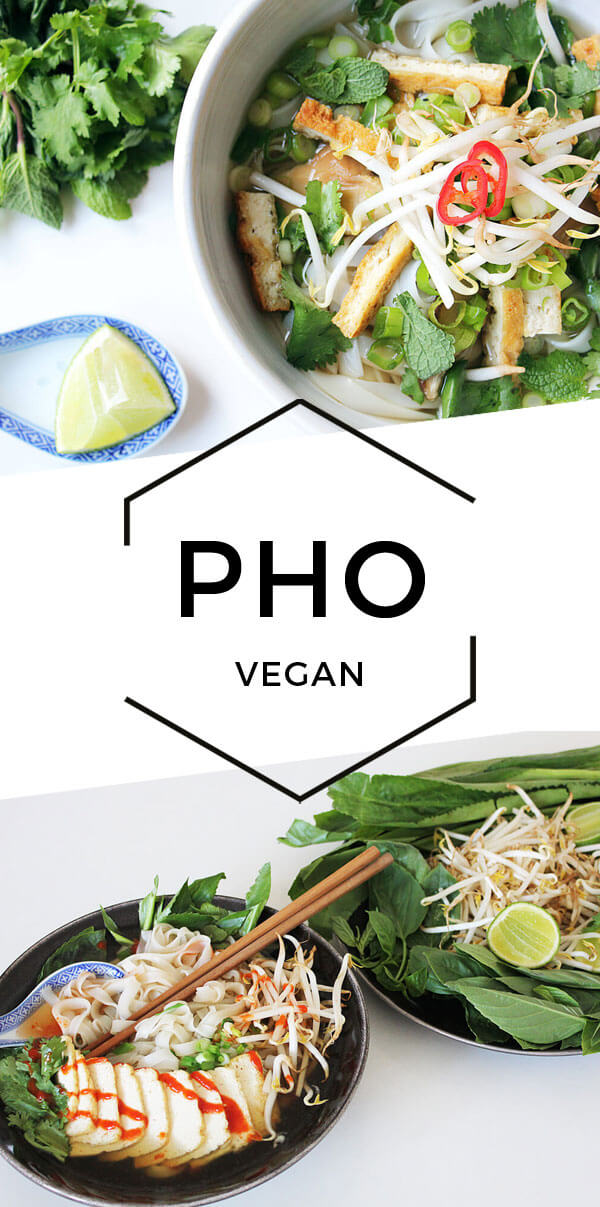 Vegane Pho - Vietnamesische Reisbandnudelsuppe - Cheap & Cheerful Cooking - Vegane Rezepte