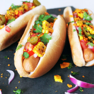 Mexican Hot Dogs (Vegan)