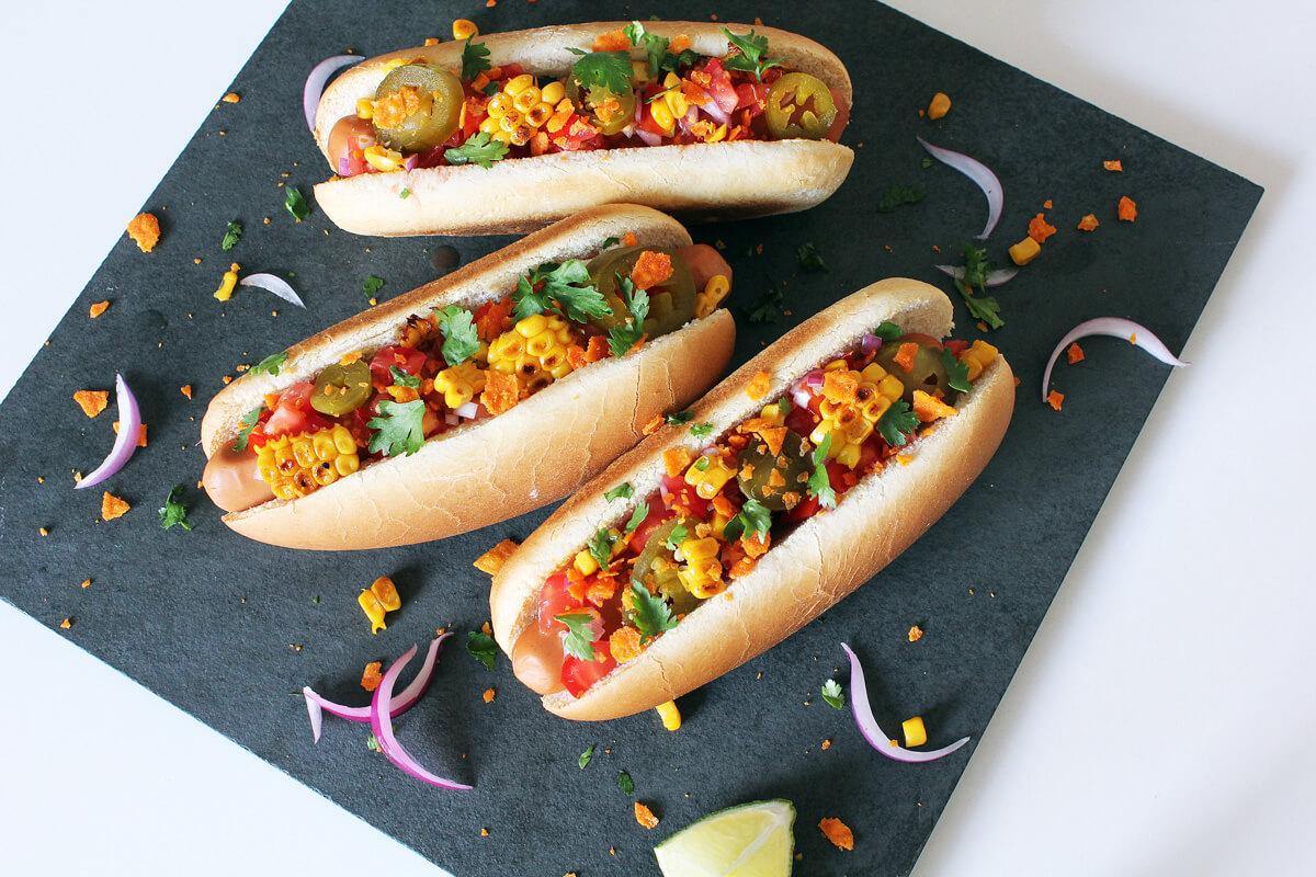 Mexikanische Hot Dogs (Vegan)