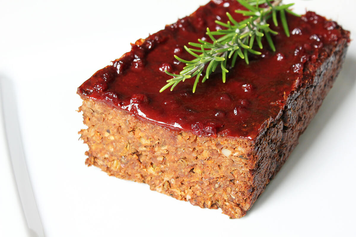 Veganer Linsenbraten