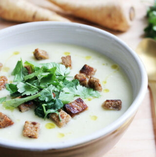 Parsnip Soup With Ginger & Coconut Milk