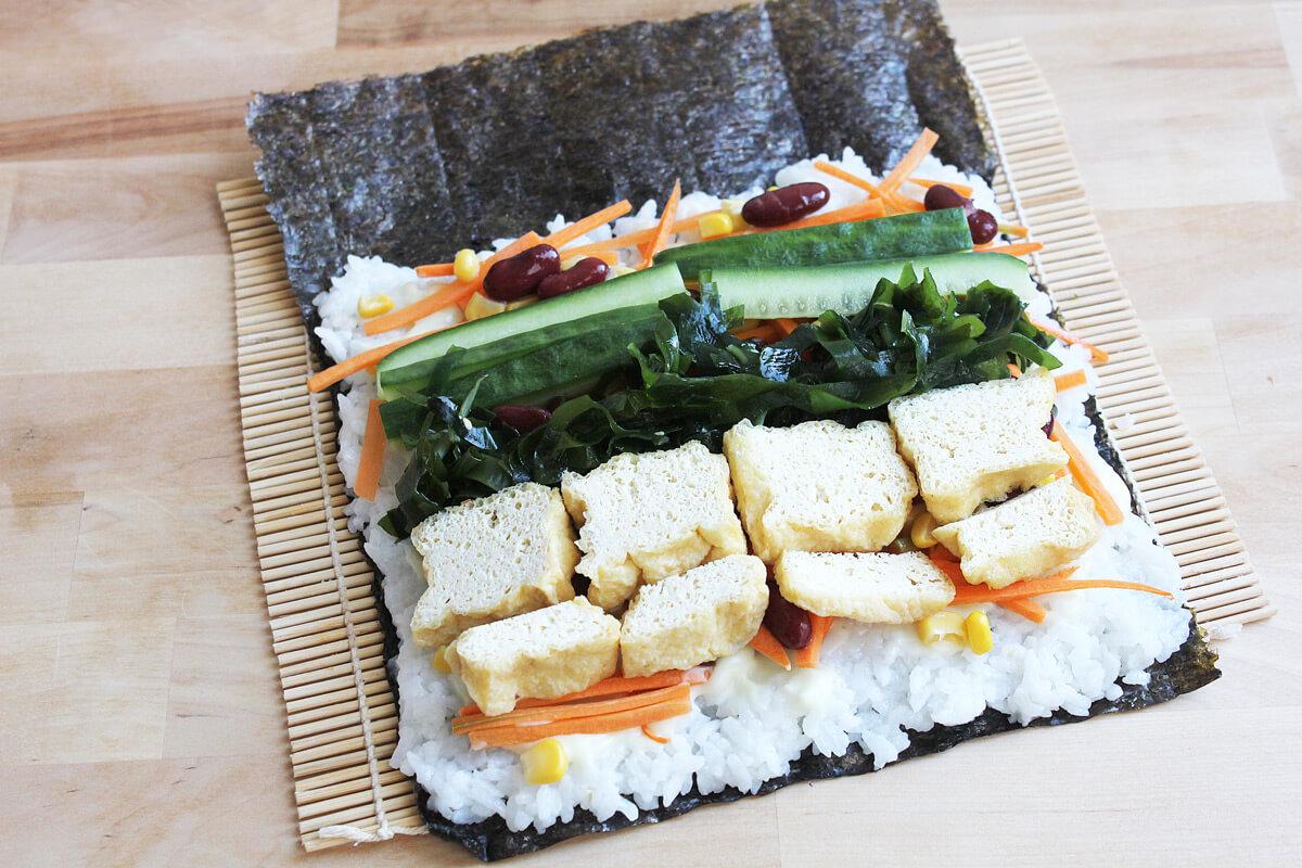 Sushi Burrito mit Tofu