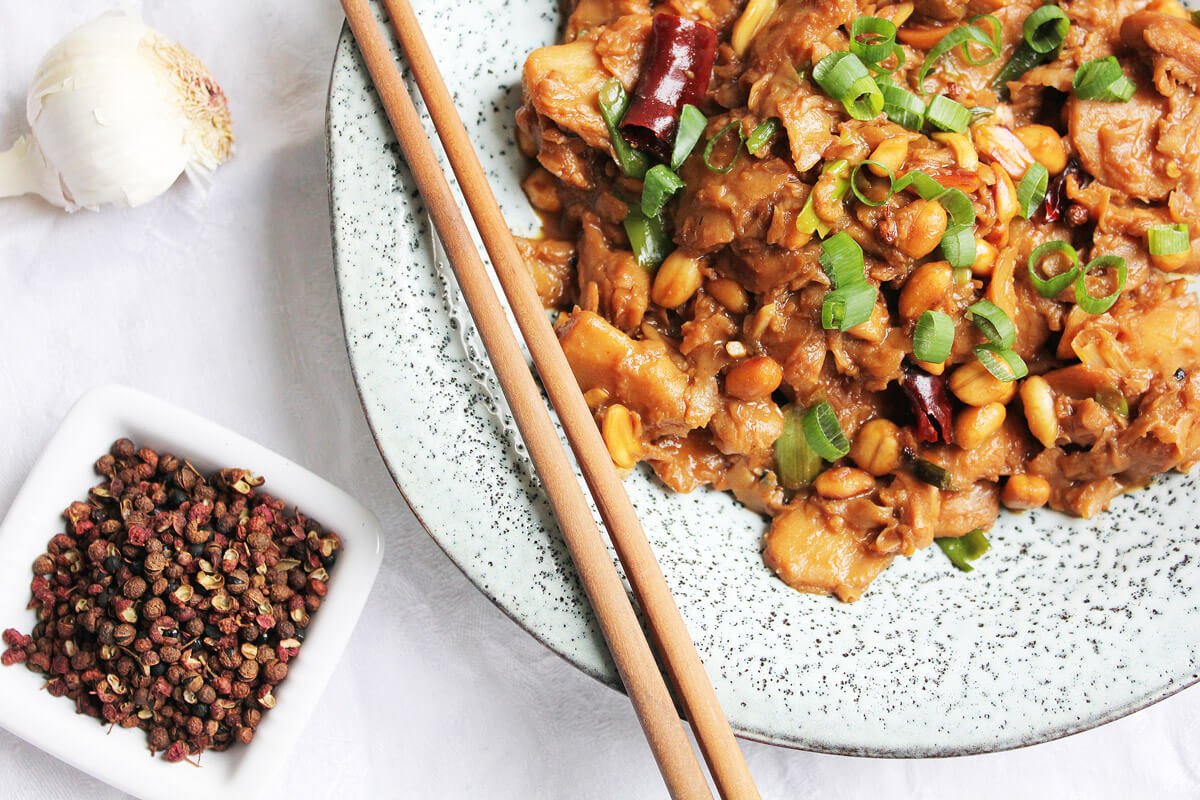 Veganes Kung Pao Hühnchen