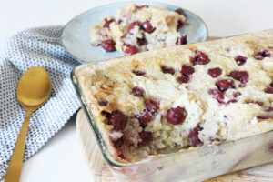 Vegan Baked Rice Pudding