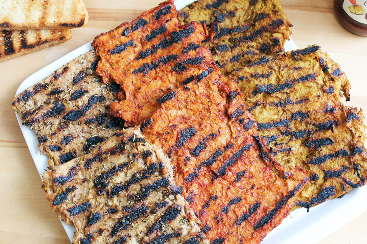 Vegan Grilled Soy Steaks with 3 Marinades