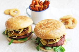 Vegan Autumn Burger with Caramelised Apple