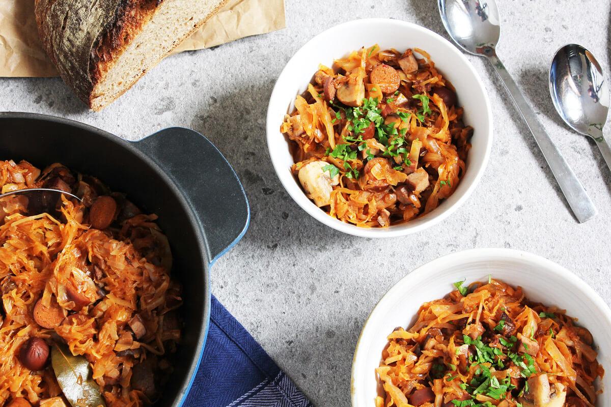 Vegan Bigos – Polish Kraut Stew