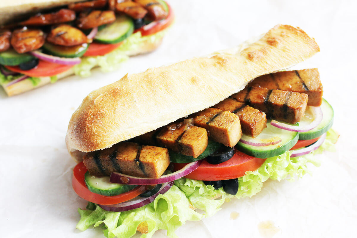 Vegan Chicken Teriyaki Sub