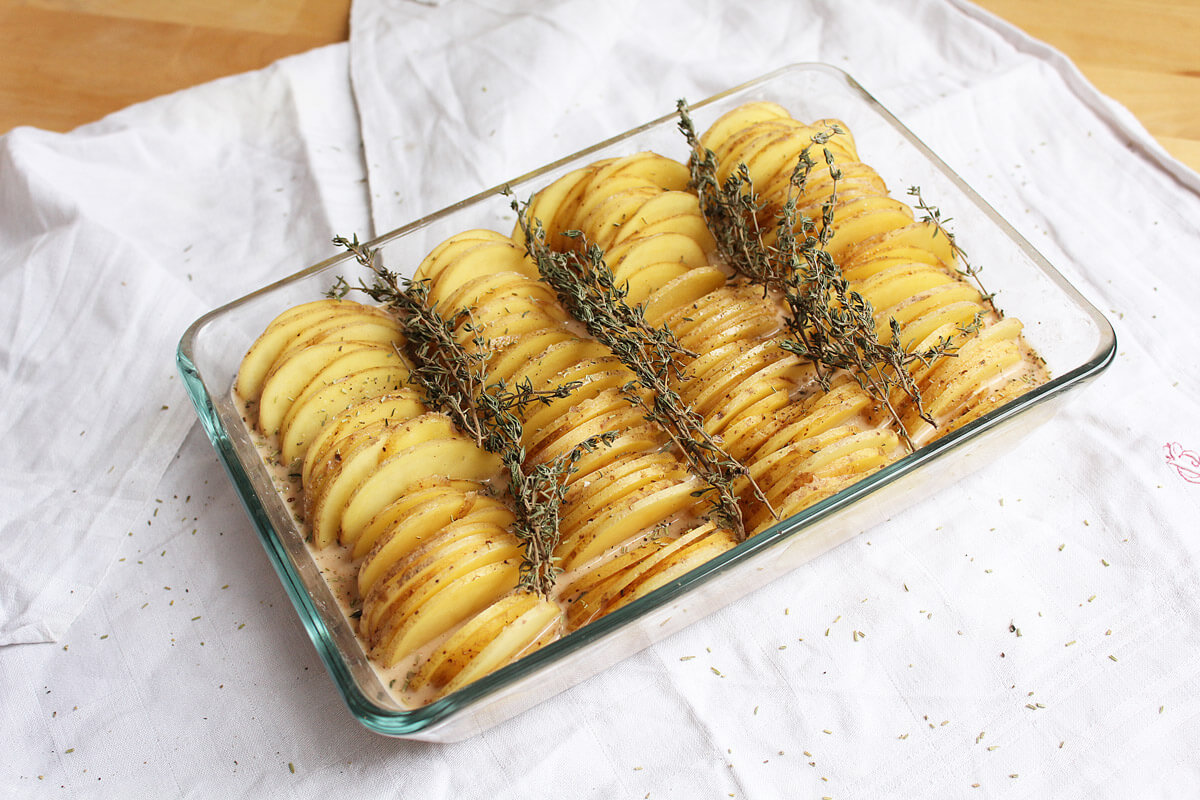 Vegan Potato Gratin Versions