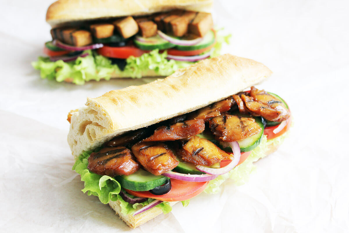 Veganes Chicken Teriyaki Sub