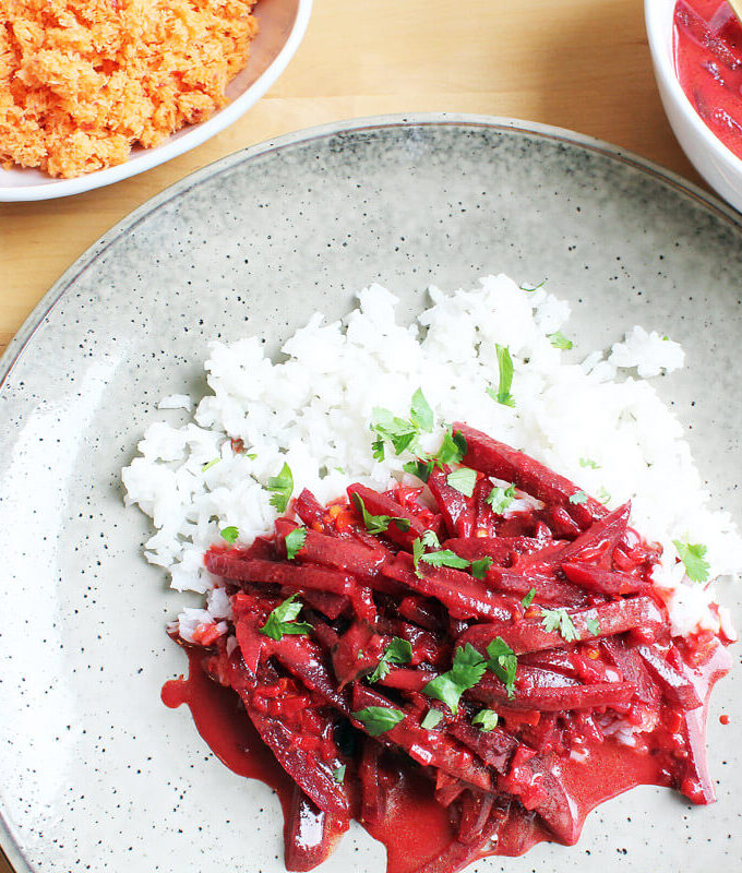 Rote-Bete-Curry aus Sri Lanka