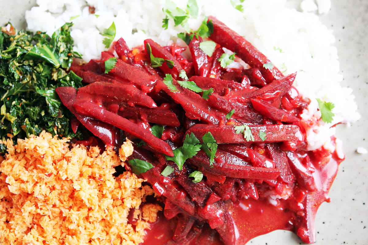 Rote-Bete-Curry aus Sri Lanka