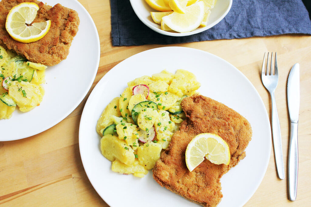 Vegan Schnitzel with Potato Salad