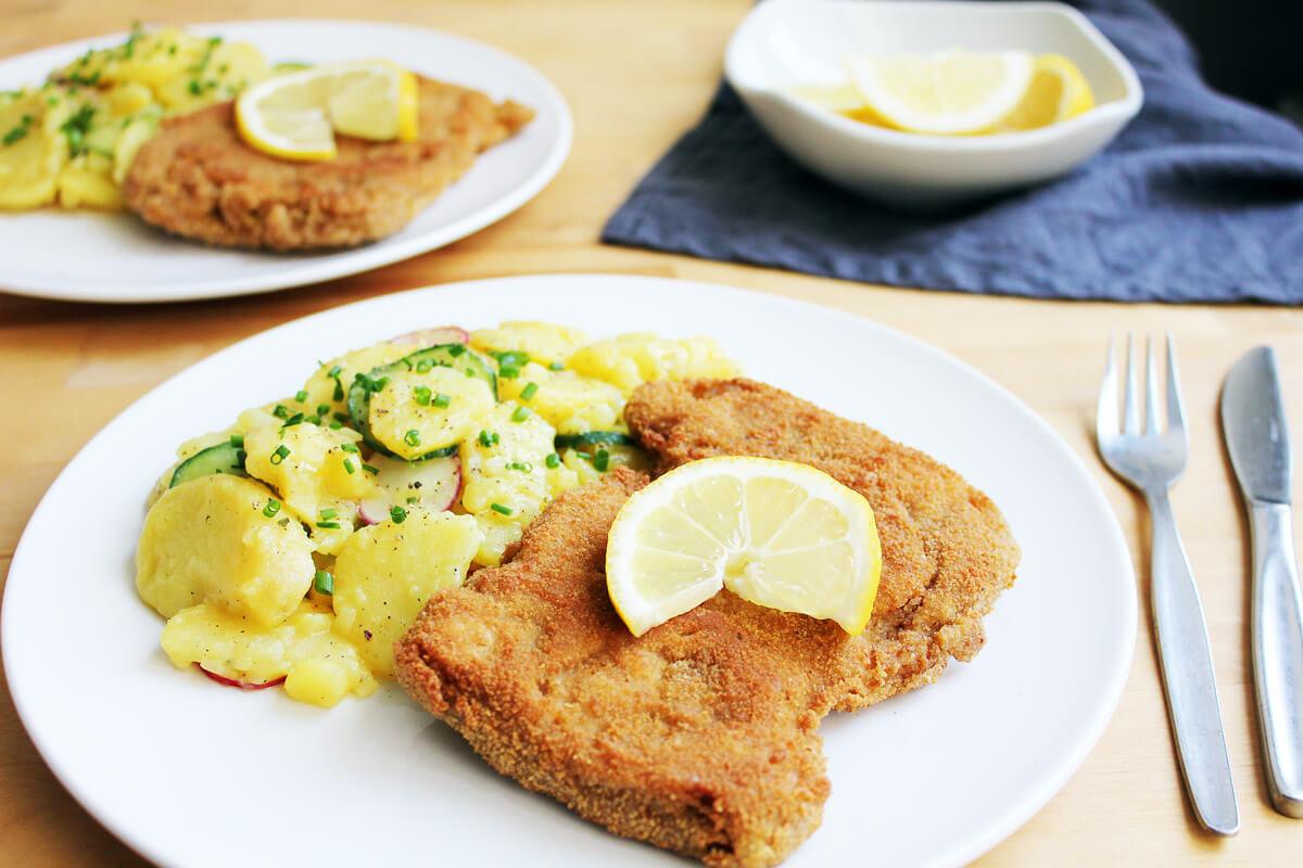 Vegan Schnitzel with Potato Salad