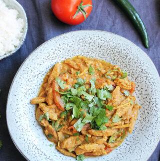 Veganes Ginger Chicken aus Pakistan
