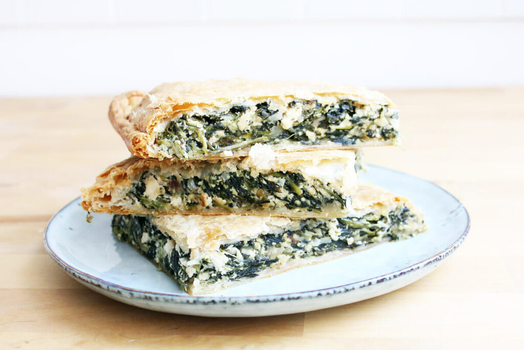 Vegan Greek Spinach Pie (Spanakopita)