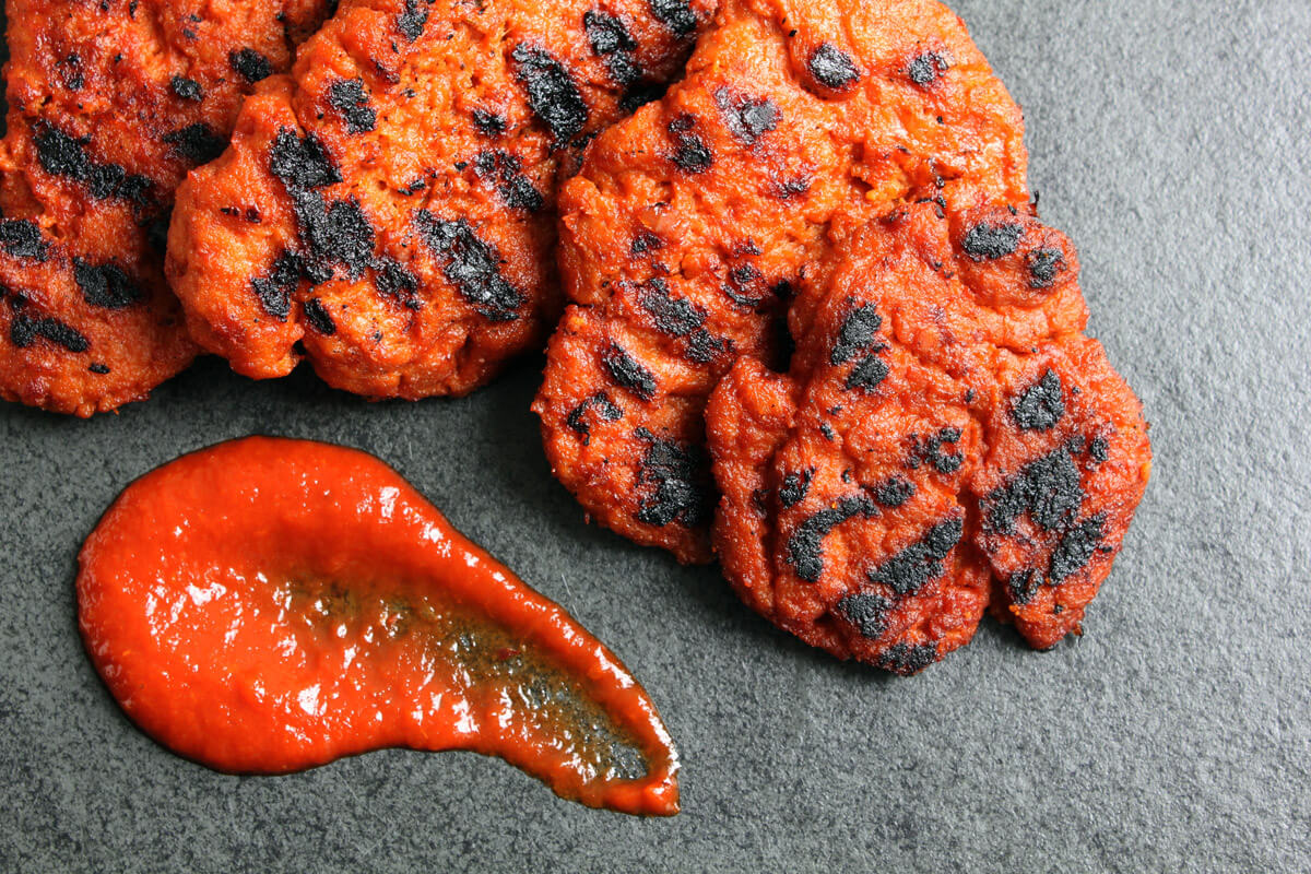 Vegane Grillsteaks aus Seitan mit BBQ Sauce