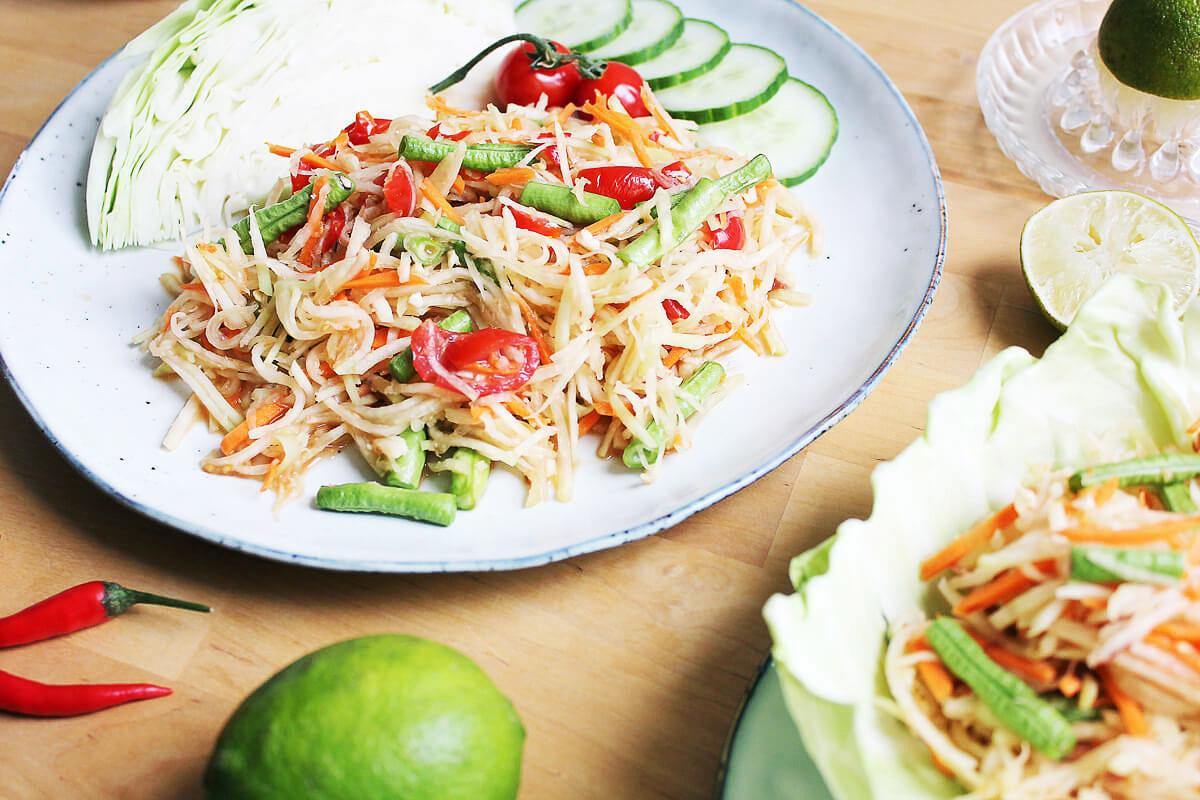 Thai Style Kohlrabi Salad (Som Tam)