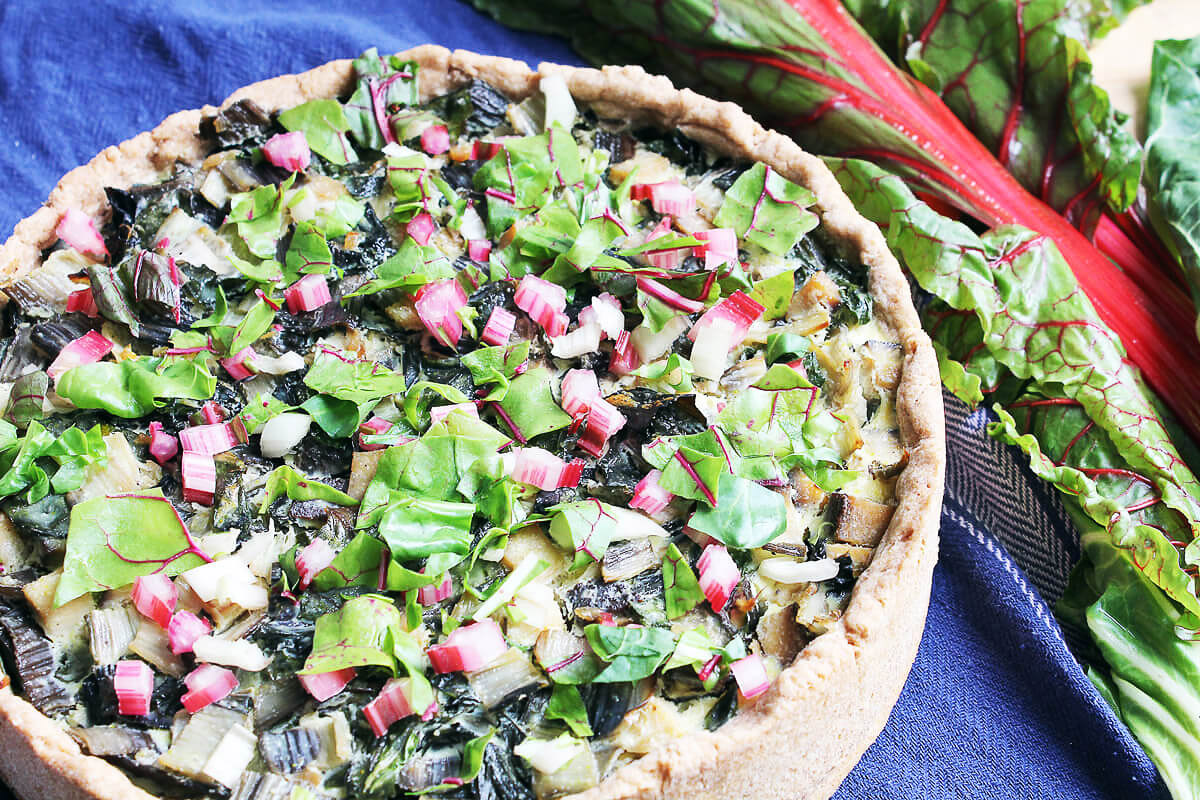 Vegan Swiss Chard Quiche