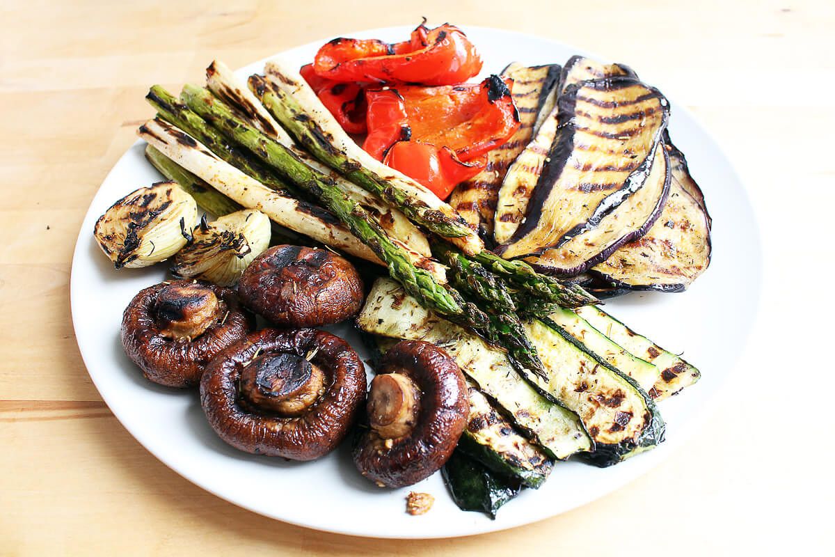 Grilled Vegetables with Spice Oil
