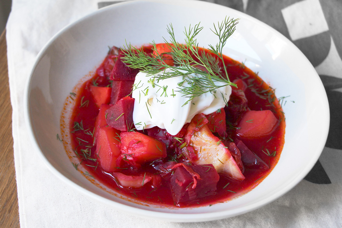 Vegan Borscht Ukrainian Stew Cheap And Cheerful Cooking
