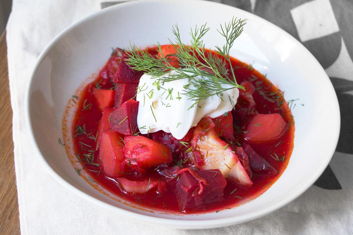 Veganer Borschtsch - Ukrainischer Eintopf