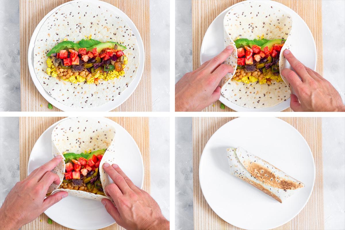 Veganer Frühstücks-Burrito