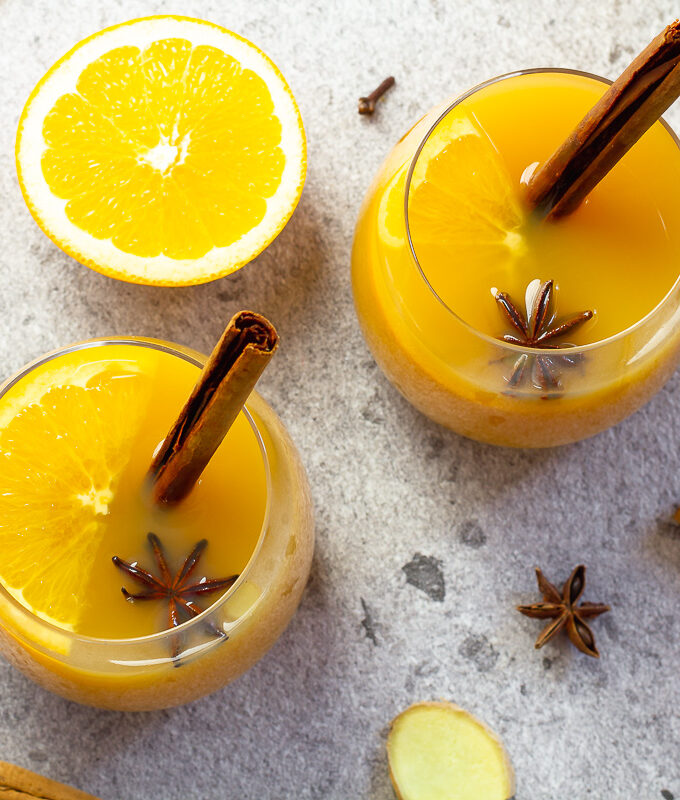 Mulled Gin with Orange and Apple