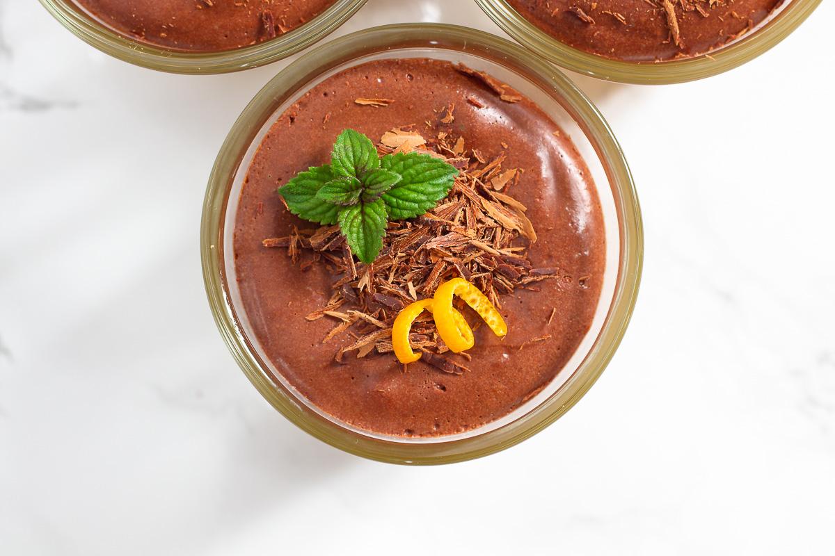 Vegan Chocolate Mousse with Orange