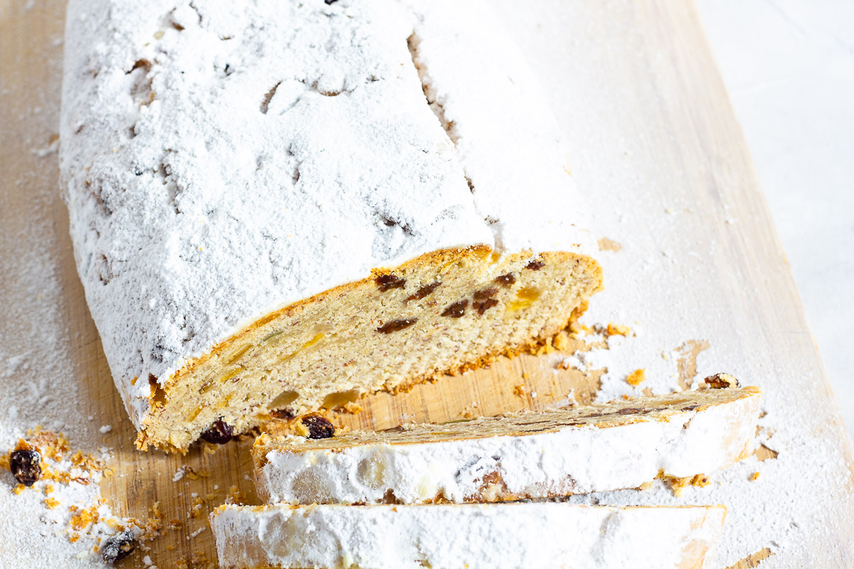 Vegan Christmas Stollen (German Christmas Cake)