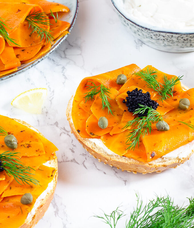 Carrot Lox - Vegan Smoked Salmon