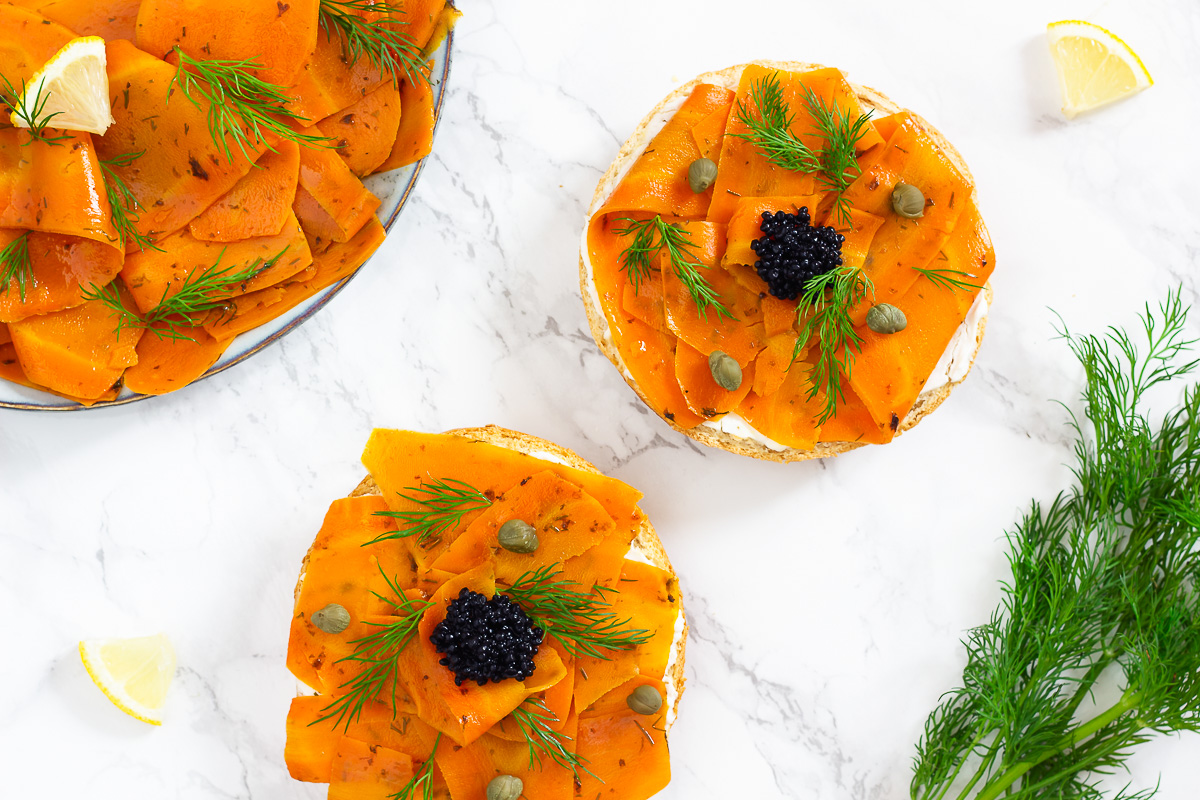 Carrot Lox - Vegan Smoked Salmon