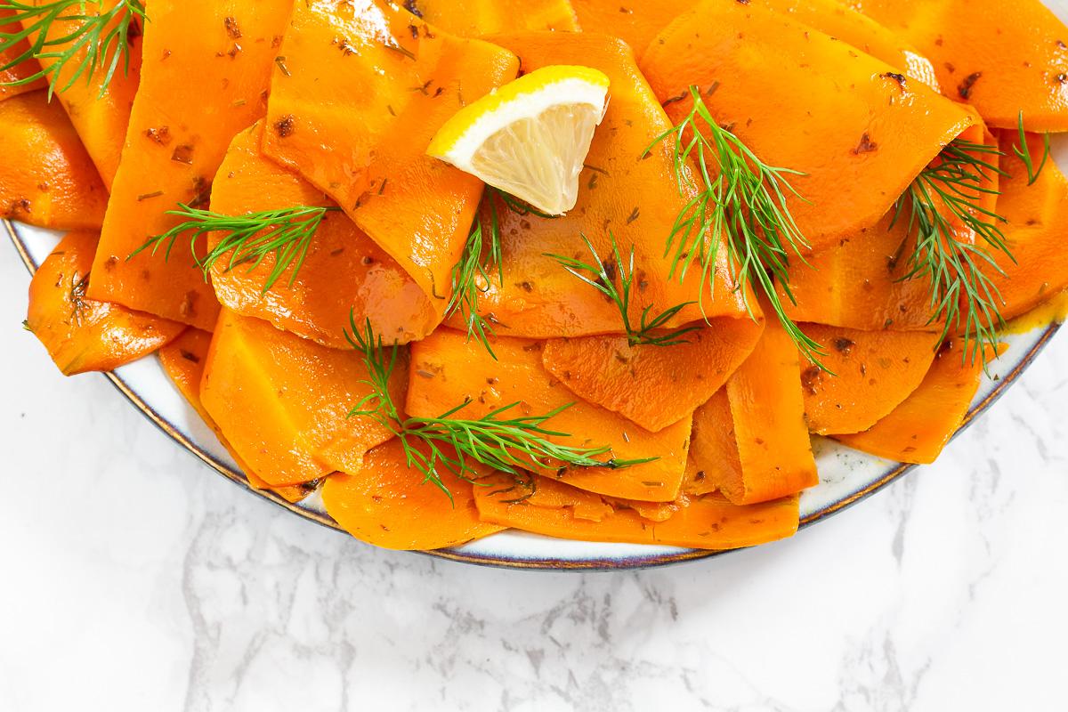 Karottenlachs - Veganer Räucherlachs