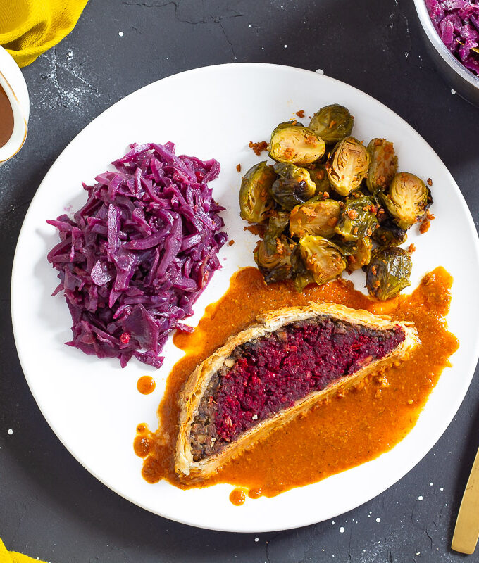 Veganes Filet Wellington mit Rote Bete