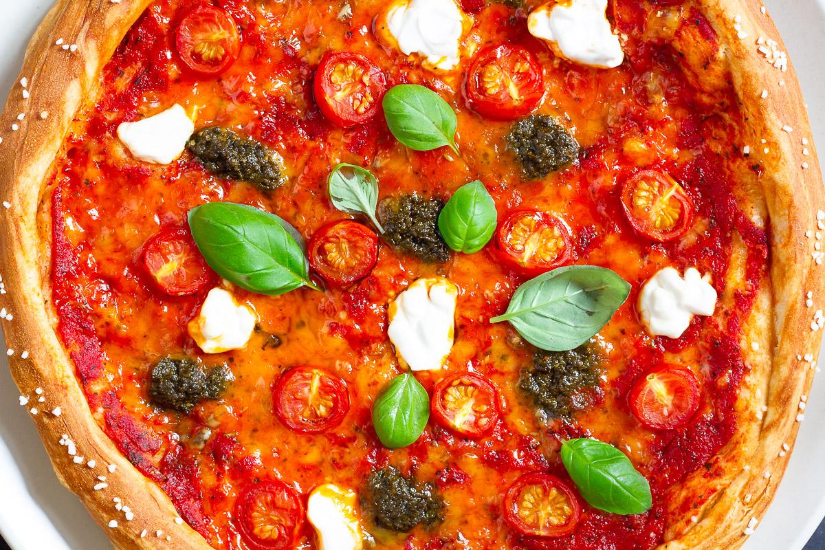 Vegane Brizza - Die Brezelpizza