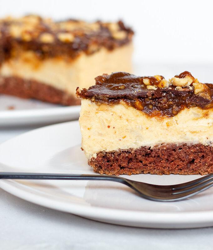 Vegane Snickers-Torte